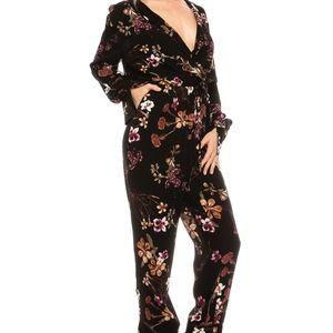 5530641cf32b renamed Pants - Floral long sleeve jumpsuit